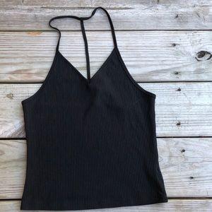 Black LF Crop top